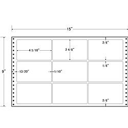 【送料無料】東洋印刷 LT15F タックフォームラベル 15インチ×9インチ 9面付(1ケース500折)【在庫目安:お取り寄せ】| ラベル シール シート シール印刷 プリンタ 自作