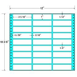 【送料無料】東洋印刷 MT12Q タックフォームラベル 12インチ×10 3/ 6インチ 27面付(1ケース500折)【在庫目安:お取り寄せ】| ラベル シール シート シール印刷 プリンタ 自作