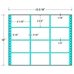 【送料無料】東洋印刷 MT12K タックフォームラベル 12 5/ 10インチ×10インチ 12面付(1ケース500折)【在庫目安:お取り寄せ】| ラベル シール シート シール印刷 プリンタ 自作