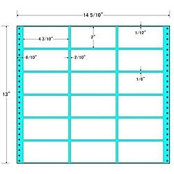 【送料無料】東洋印刷 MX14T タックフォームラベル 14 5/ 10インチ×13インチ 18面付(1ケース500折)【在庫目安:お取り寄せ】| ラベル シール シート シール印刷 プリンタ 自作