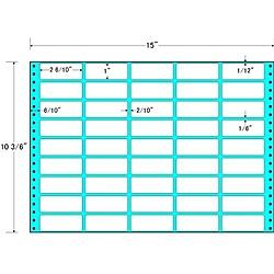 【送料無料】東洋印刷 MX15L タックフォームラベル 15インチ×10 3/ 6インチ 45面付(1ケース500折)【在庫目安:お取り寄せ】| ラベル シール シート シール印刷 プリンタ 自作