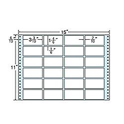 【送料無料】東洋印刷 MT15T タックフォームラベル 15インチ×11インチ 24面付(1ケース500折)【在庫目安:お取り寄せ】  ラベル シール シート シール印刷 プリンタ 自作