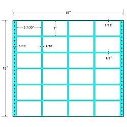 【送料無料】東洋印刷 MX15A タックフォームラベル 15インチ×13インチ 24面付(1ケース500折)【在庫目安:お取り寄せ】| ラベル シール シート シール印刷 プリンタ 自作