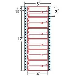 【送料無料】東洋印刷 R5AP タックフォームラベル 5インチ×12インチ 6面付(1ケース1000折)【在庫目安:お取り寄せ】| ラベル シール シート シール印刷 プリンタ 自作