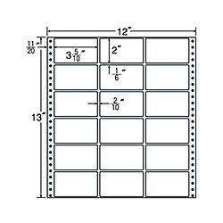 【送料無料】東洋印刷 MX12D タックフォームラベル 12インチ×13インチ 18面付(1ケース500折)【在庫目安:お取り寄せ】| ラベル シール シート シール印刷 プリンタ 自作