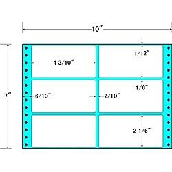 【送料無料】東洋印刷 MT10D タックフォームラベル 10インチ×7インチ 6面付(1ケース1000折)【在庫目安:お取り寄せ】| ラベル シール シート シール印刷 プリンタ 自作