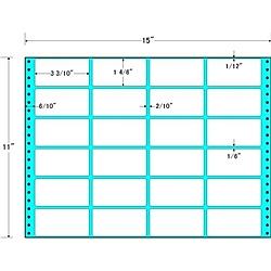 【送料無料】東洋印刷 RT15T タックフォームラベル 15インチ×11インチ 24面付(1ケース500折)【在庫目安:お取り寄せ】| ラベル シール シート シール印刷 プリンタ 自作