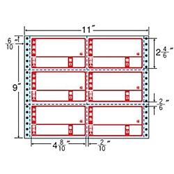 【送料無料】東洋印刷 R11BP タックフォームラベル 11インチ×9インチ 6面付(1ケース500折)【在庫目安:お取り寄せ】| ラベル シール シート シール印刷 プリンタ 自作