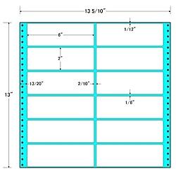 【送料無料】東洋印刷 MX13B タックフォームラベル 13 5/ 10インチ×13インチ 12面付(1ケース500折)【在庫目安:お取り寄せ】| ラベル シール シート シール印刷 プリンタ 自作