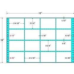 【送料無料】東洋印刷 MT15K タックフォームラベル 15インチ×10インチ 16面付(1ケース500折)【在庫目安:お取り寄せ】| ラベル シール シート シール印刷 プリンタ 自作