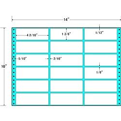 【送料無料】東洋印刷 M14B タックフォームラベル 14インチ×10インチ 18面付(1ケース500折)【在庫目安:お取り寄せ】| ラベル シール シート シール印刷 プリンタ 自作