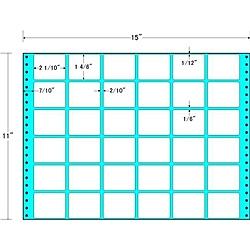 【送料無料】東洋印刷 MH15I タックフォームラベル 15インチ×11インチ 36面付(1ケース500折)【在庫目安:お取り寄せ】| ラベル シール シート シール印刷 プリンタ 自作