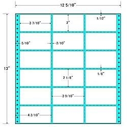 【送料無料】東洋印刷 MX12Z タックフォームラベル 12 5/ 10インチ×13インチ 18面付(1ケース500折)【在庫目安:お取り寄せ】| ラベル シール シート シール印刷 プリンタ 自作