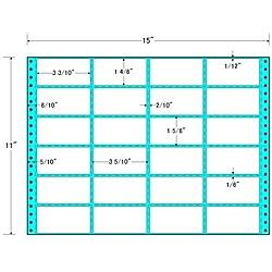 【送料無料】東洋印刷 MH15B タックフォームラベル 15インチ×11インチ24面付(1ケース500折)【在庫目安:お取り寄せ】| ラベル シール シート シール印刷 プリンタ 自作