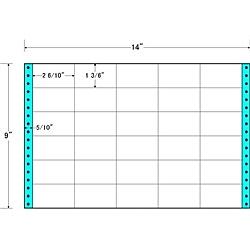 【送料無料】東洋印刷 M14F タックフォームラベル 14インチ×9インチ 30面付(1ケース500折)【在庫目安:お取り寄せ】| ラベル シール シート シール印刷 プリンタ 自作