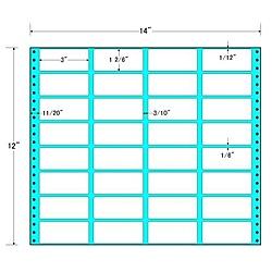 【送料無料】東洋印刷 MT14G タックフォームラベル 14インチ×12インチ 32面付(1ケース500折)【在庫目安:お取り寄せ】| ラベル シール シート シール印刷 プリンタ 自作