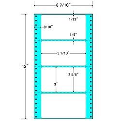 【送料無料】東洋印刷 MM6A タックフォームラベル 6 7/ 10インチ×12インチ 4面付(1ケース1000折)【在庫目安:お取り寄せ】| ラベル シール シート シール印刷 プリンタ 自作