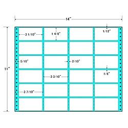 【送料無料】東洋印刷 MH14W タックフォームラベル 14インチ×11インチ 24面付(1ケース500折)【在庫目安:お取り寄せ】| ラベル シール シート シール印刷 プリンタ 自作