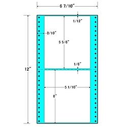 【送料無料】東洋印刷 MM6B タックフォームラベル 6 7/ 10インチ×12インチ 2面付(1ケース1000折)【在庫目安:お取り寄せ】| ラベル シール シート シール印刷 プリンタ 自作
