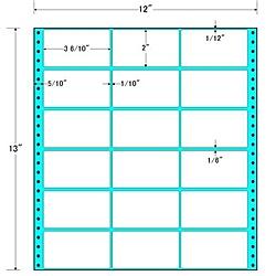 【送料無料】東洋印刷 M12A タックフォームラベル 12インチ×13インチ 18面付(1ケース500折)【在庫目安:お取り寄せ】| ラベル シール シート シール印刷 プリンタ 自作