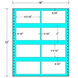 【送料無料】東洋印刷 M10W タックフォームラベル 10インチ×12インチ 8面付(1ケース500折)【在庫目安:お取り寄せ】| ラベル シール シート シール印刷 プリンタ 自作