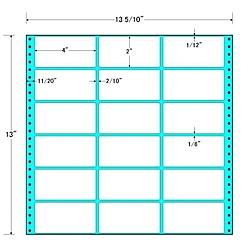【送料無料】東洋印刷 MT13V タックフォームラベル 13 5/ 10インチ×13インチ 18面付(1ケース500折)【在庫目安:お取り寄せ】  ラベル シール シート シール印刷 プリンタ 自作