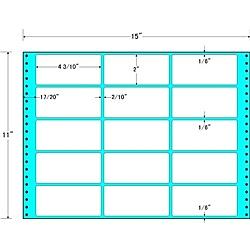 【送料無料】東洋印刷 MX15R タックフォームラベル 15インチ×11インチ 15面付(1ケース500折)【在庫目安:お取り寄せ】| ラベル シール シート シール印刷 プリンタ 自作