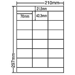 【送料無料】東洋印刷 NEB210F シートカットラベル A4版 18面付(1ケース500シート)【在庫目安:お取り寄せ】| ラベル シール シート シール印刷 プリンタ 自作