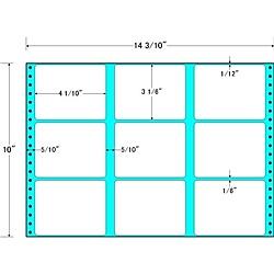 【送料無料】東洋印刷 M14V タックフォームラベル 14 3/ 10インチ×10インチ 9面付(1ケース500折)【在庫目安:お取り寄せ】| ラベル シール シート シール印刷 プリンタ 自作