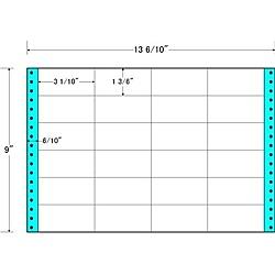 【送料無料】東洋印刷 MH13B タックフォームラベル 13 6/ 10インチ×9インチ 24面付(1ケース500折)【在庫目安:お取り寄せ】| ラベル シール シート シール印刷 プリンタ 自作