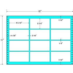 【送料無料】東洋印刷 MH15E タックフォームラベル 15インチ×11インチ 12面付(1ケース500折)【在庫目安:お取り寄せ】| ラベル シール シート シール印刷 プリンタ 自作