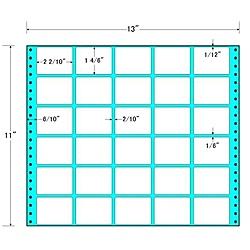 【送料無料】東洋印刷 M13R タックフォームラベル 13インチ×11インチ 30面付(1ケース500折)【在庫目安:お取り寄せ】| ラベル シール シート シール印刷 プリンタ 自作