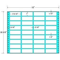 【送料無料】東洋印刷 MX13I タックフォームラベル 13インチ×10 3/ 6インチ 36面付(1ケース500折)【在庫目安:お取り寄せ】| ラベル シール シート シール印刷 プリンタ 自作