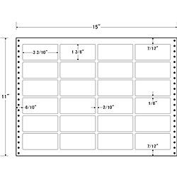 【送料無料】東洋印刷 LX15N タックフォームラベル 15インチ×11インチ 24面付(1ケース500折)【在庫目安:お取り寄せ】| ラベル シール シート シール印刷 プリンタ 自作