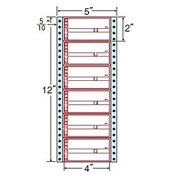 【送料無料】東洋印刷 MM5AP タックフォームラベル 5インチ×12インチ 6面付(1ケース1000折)【在庫目安:お取り寄せ】| ラベル シール シート シール印刷 プリンタ 自作