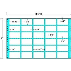 【送料無料】東洋印刷 M14J タックフォームラベル 14 5/ 10インチ×9インチ 30面付(1ケース500折)【在庫目安:お取り寄せ】| ラベル シール シート シール印刷 プリンタ 自作