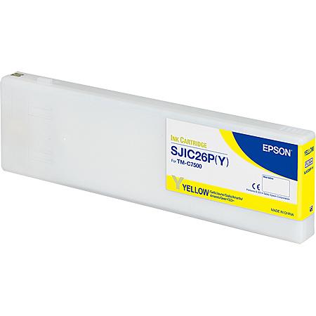 【送料無料】EPSON SJIC26PY TM-C7500用インクカートリッジ/ イエロー【在庫目安:お取り寄せ】| インク インクカートリッジ インクタンク 純正 純正インク