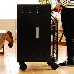 【送料無料】エム・ティ・プランニング IPC-SL-40BK タブレット収納キャビネット Tablet*Cart SMALL 40台収納 黒色【在庫目安:お取り寄せ】