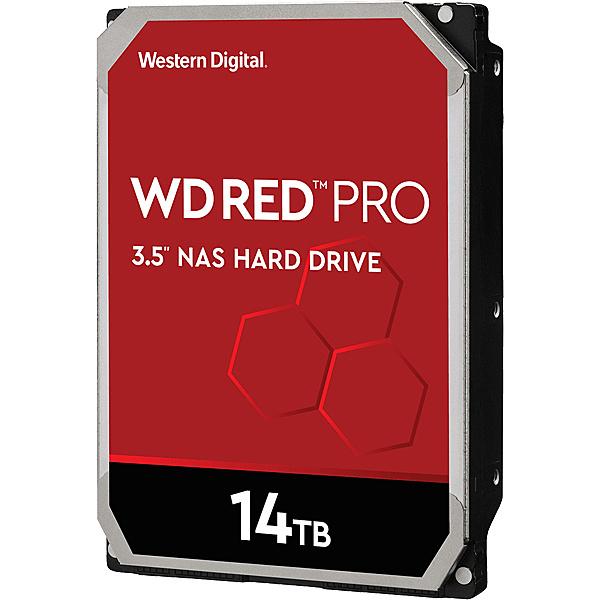 【送料無料】WESTERN DIGITAL 0718037-872858 WD Red Proシリーズ 3.5インチ内蔵HDD 14TB SATA3(6Gb/ s) 7200rpm/ class 512MBキャッシュ搭載【在庫目安:お取り寄せ】| パソコン周辺機器
