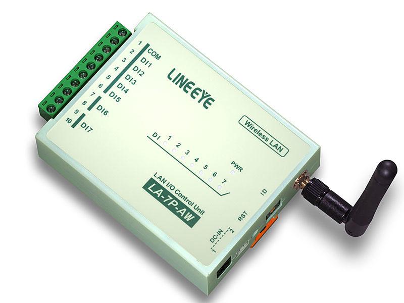 【送料無料】ラインアイ LA-7P-AW2 無線LAN接続型デジタルIOユニット AC/ DC7入力【在庫目安:お取り寄せ】