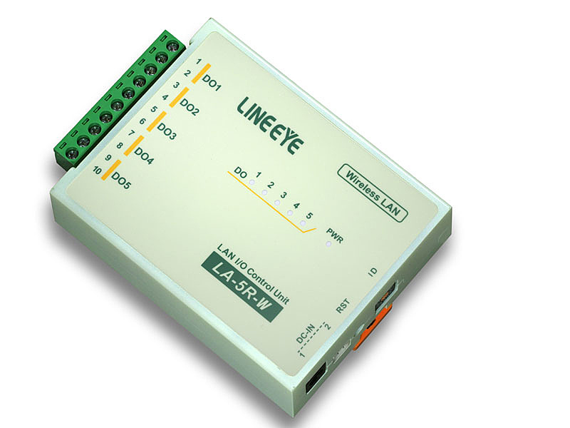 【送料無料】ラインアイ LA-5R-W 無線LAN接続型デジタルIOユニット リレー接点5出力【在庫目安:お取り寄せ】