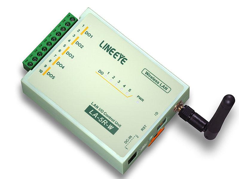 【送料無料】ラインアイ LA-5R-W2 無線LAN接続型デジタルIOユニット リレー接点5出力【在庫目安:お取り寄せ】
