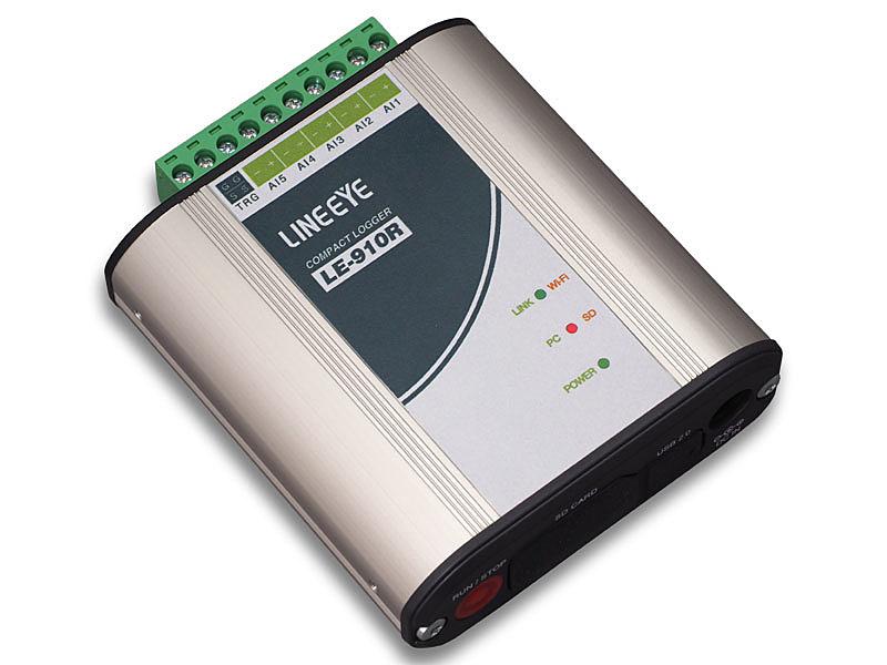 【送料無料】ラインアイ LE-910R コンパクトロガー(アナログ入力5点)【在庫目安:お取り寄せ】