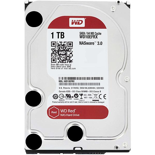 【送料無料】WESTERN DIGITAL 4988755-005760 WD Redシリーズ 3.5インチ内蔵HDD 1TB SATA6.0Gb/ s IntelliPower 64MB【在庫目安:お取り寄せ】| パソコン周辺機器