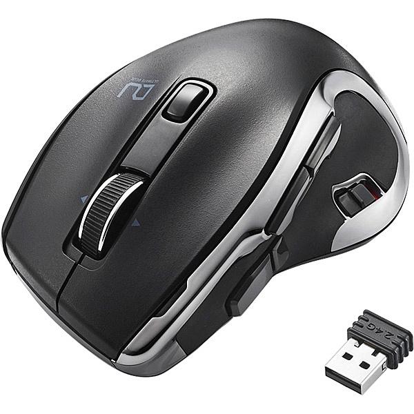 【送料無料】ELECOM M-DC01MBBK Ultimate Blueマウス/ DUALシリーズ/ ハードウェアマクロ搭載/ 高速スクロール/ 無線・Bluetooth切替/ 8ボタン/ ブラック【在庫目安:お取り寄せ】