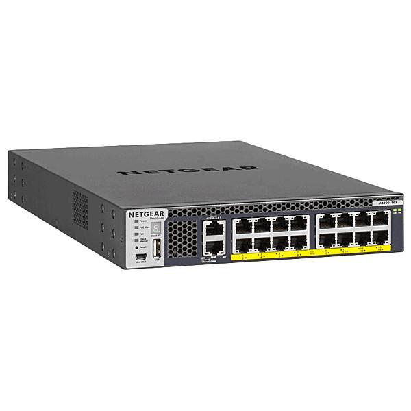 【送料無料】NETGEAR XSM4316PA-100AJS PoE+対応(199W) 10ギガビット16ポート L3 スタッカブル フルマネージスイッチ M4300-16X【在庫目安:僅少】