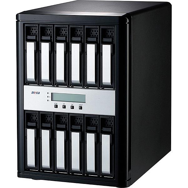 【送料無料】ARECA ARC8050T3U-12 Thunderbolt 3 / USB 3.2 Gen 2 to 12Gb/ s SAS RAID Storage 12台搭載モデル【在庫目安:お取り寄せ】