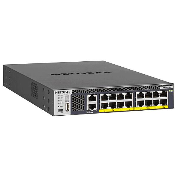 【送料無料】NETGEAR XSM4316PB-100AJS PoE+対応(500W) 10ギガビット16ポート L3 スタッカブル フルマネージスイッチ M4300-16X【在庫目安:僅少】