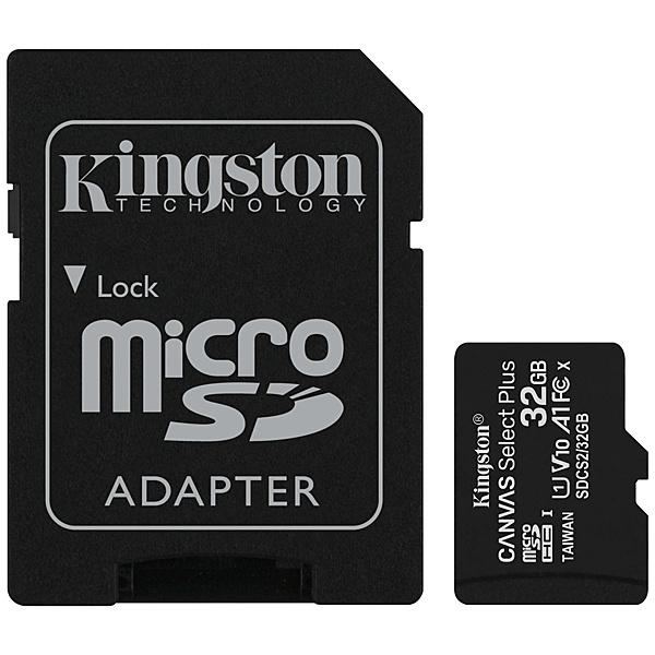 【送料無料】キングストン SDCS2/32GB 32GB Canvas Select Plus microSDHCカード Class10 UHS-1 U1 V10 A1 SDアダプタ付属【在庫目安:お取り寄せ】
