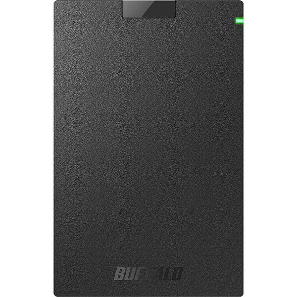 【送料無料】バッファロー HD-PGAC1U3-BA USB3.2(Gen1)対応ポータブルHDD Type-Cケーブル付 1TB ブラック【在庫目安:予約受付中】| パソコン周辺機器 ポータブル